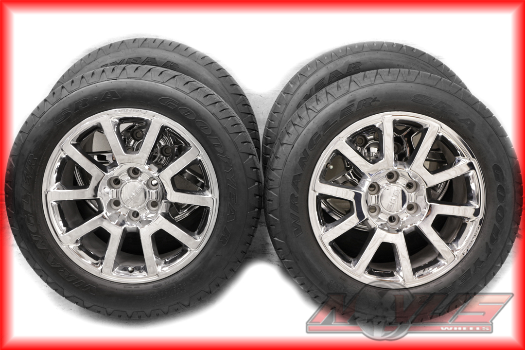 Oem 2016 20 Gmc Yukon Sierra Denali Chrome Wheels Goodyear Tires 9673